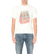 Human Made Vintage Style Coca Cola Cotton T Shirt White