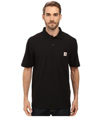 Carhartt Contractors Work Pocket Polo Black Men's Short Sleeve Pullover