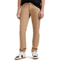 Frame L'homme Slim Cotton Blend Sateen Twill Trousers Camel