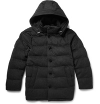 Mackintosh Hooded Wool Felt Down Jacket Gray