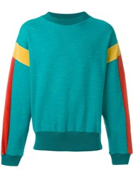Gosha Rubchinskiy Colour Block Sweatshirt Green