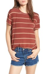Rvca Suspension Print Stretch Modal Tee Henna