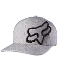 Fox Never Decline Flexfit Hat Heather Grey