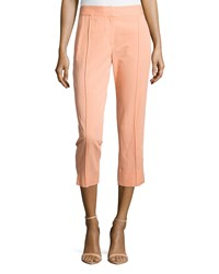 Halston Heritage Creased Front Skinny Ankle Pants Nectar