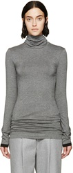 Denis Gagnon Grey Stretch Jersey Turtleneck