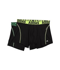 Adidas Sport Performance Climacool 2 Pack Trunk Black Solar Yellow Flash Green Men's Underwear