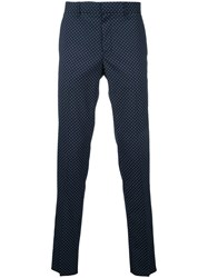 Factotum Dots Print Pants Blue