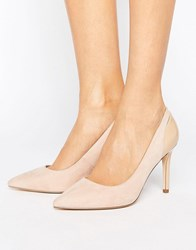 Faith Callie Nude Pointed Court Shoes Nude Beige