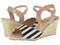 Fitzwell Jessica Natural Black Fabric Stripe Women's Shoes Multi