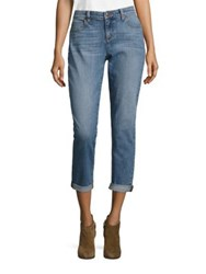 Eileen Fisher Organic Cotton Boyfriend Jeans Sky Blue