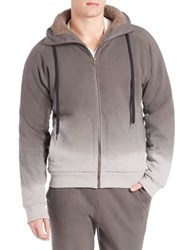 Tomas Maier Fleece Lined Hoodie Light Grey