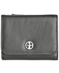 Giani Bernini Softy Leather Mini Trifold Wallet Only At Macy's Black