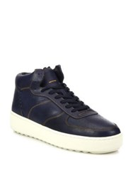 Coach 1941 Patchwork Leather High Top Sneakers Navy