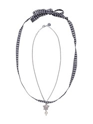 Miu Miu Star Pendant Necklace Silver