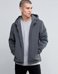 Selected Homme Hooded Jacket Dark Grey