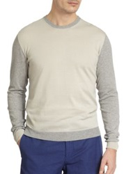 Slowear Colorblock Crewneck Sweater Grey