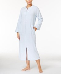Miss Elaine Honeycomb Embroidered Gripper Robe Blue