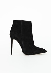 Missguided Suede Stiletto Heel Ankle Boots