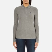 Polo Ralph Lauren Women's Julie Long Sleeve Shirt Soft Flannel Heather