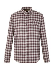 Gibson Check Tailored Fit Long Sleeve Shirt Berry