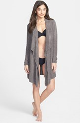 Women's Barefoot Dreams Drape Front Cardigan Cocoa