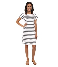 Hatley T Shirt Dress White Navy Stripes Women's Dress