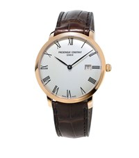 Frederique Constant Slimline Automatic Watch Unisex Gold
