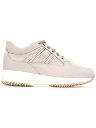 Hogan Lace Up Sneakers Nude Neutrals