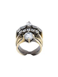 Iosselliani 'White Eclipse Memento' Ring Metallic