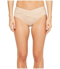 Kenneth Cole Sexy Solids Crossover Hipster Bottom Sand Women's Swimwear Beige