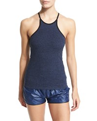 Heroine Sport Performance Halter Tank Top Navy Size Xs Heather Navy