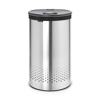Brabantia Laundry Bin Matt Steel With Dark Grey Plastic Lid 60 Litres