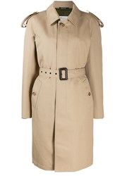 Maison Martin Margiela Oversized Trench Coat Neutrals
