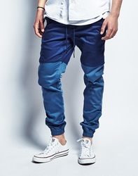 Publish Two Tone Joggers In Navy Slate