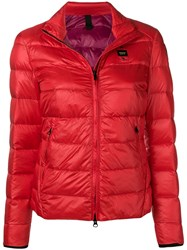 Blauer Zip Puffer Jacket Red