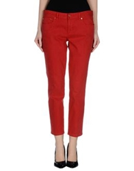 Tory Burch Denim Pants Brick Red