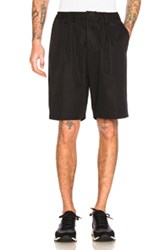 Marni Light Washed Cotton Twill Shorts In Black