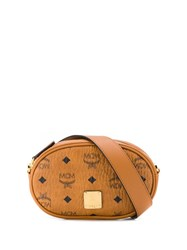 Mcm Logo Belt Bag Brown