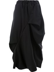 Moohong Deconstructed Drop Crotch Trousers Black