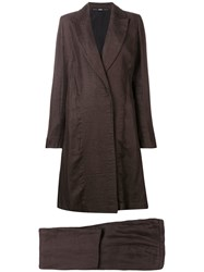 Gianfranco Ferre Vintage 1990'S Flared Coat And Trousers Brown