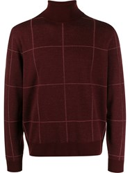 Canali Checked Roll Neck Sweater 60