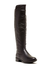 Godiva Brenda Quilted Riding Boot Black
