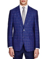 Jack Victor Loro Piana Double Windowpane Classic Fit Sport Coat 100 Bloomingdale's Exclusive Navy Multi