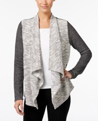 Styleandco. Style Co. Draped Knit Jacket Only At Macy's Deep Black