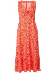 Rebecca Taylor Malia Twist Dress Orange