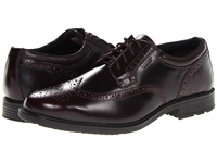 Rockport Essential Details Waterproof Wing Tip Cordovan Men's Lace Up Cap Toe Shoes Burgundy