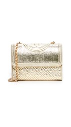 Tory Burch Small Fleming Convertible Shoulder Bag Spark Gold