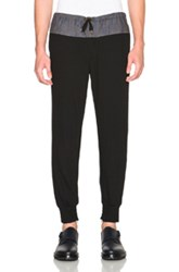 Kolor Nylon And Wool Trousers In Black