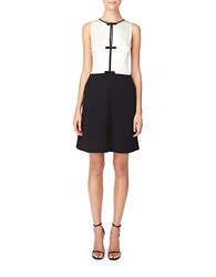 Erin Fetherston Bow Accent Fit And Flare Dress Black Ivory