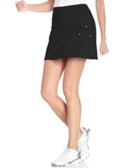 Style And Co. Sport. French Terry Cargo Skort Deep Black